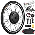 "Anbull 26"" Front Wheel E-Bike Conversion Kit, 48V 1000W Electric Bicycle Powerful Hub Motor Kit with Intelligent Controller and PAS System"