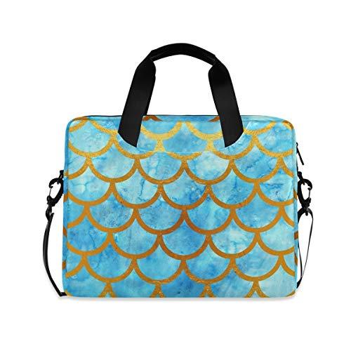 XIXIKO Laptoptasche mit Meeres-/Ozean-/Meerjungfrauen-Waage, erweiterbarer Trolley, Aktentasche für Damen und Herren, mit abnehmbarem Gurt für Arbeit, Reisen, Business, MacBook, iPad, Reisen