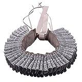 GRACEART Vittoriano Increspatura Collare Sciarpa con Grigio Pizzo (Grigio)