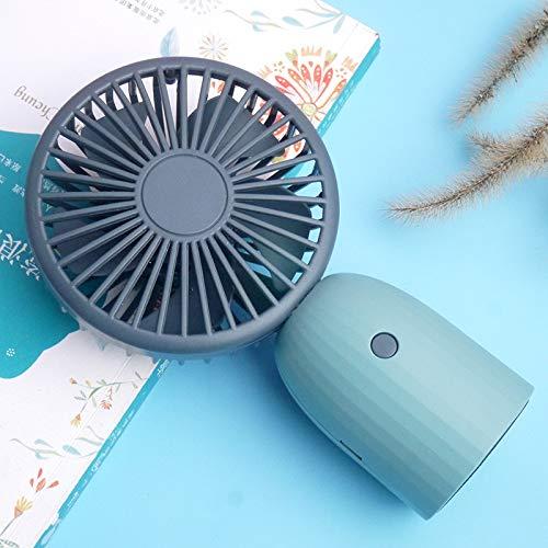 Estudiante Mini Ventilador de Mano Usb Carga Pequeño Ventilador Mute Portátil Al Aire Libre Ventilador Eléctrico Un Mar Azul