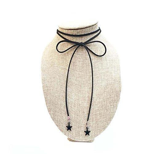 Belle corde noire Collier cordon de mode