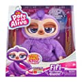 """Pets Alive Fifi the Flossing Sloth Purple - 11"""" Interactive Animal Dancing Robotic Plush Toy with 3 Songs, Floss Dance, Adorable Gift, Party Plush Toy Kids Ages 3+ from Zuru"""