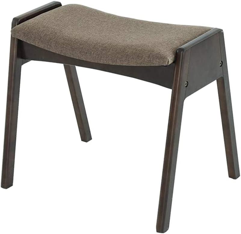 Dall Stools Solid Wood Dressing Stool Upholstere Stacking Bombing free Max 48% OFF shipping
