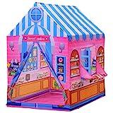 HOMCOM Kinderspielhaus Spielzelt Bonbonhaus Tür und Verkaufsfenster 3 Jahre Rollenspiel Polyester...