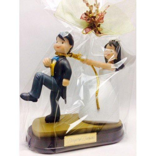 Figura boda PERSONALIZADA novios graciosos tarta figuras GRABADAS originales
