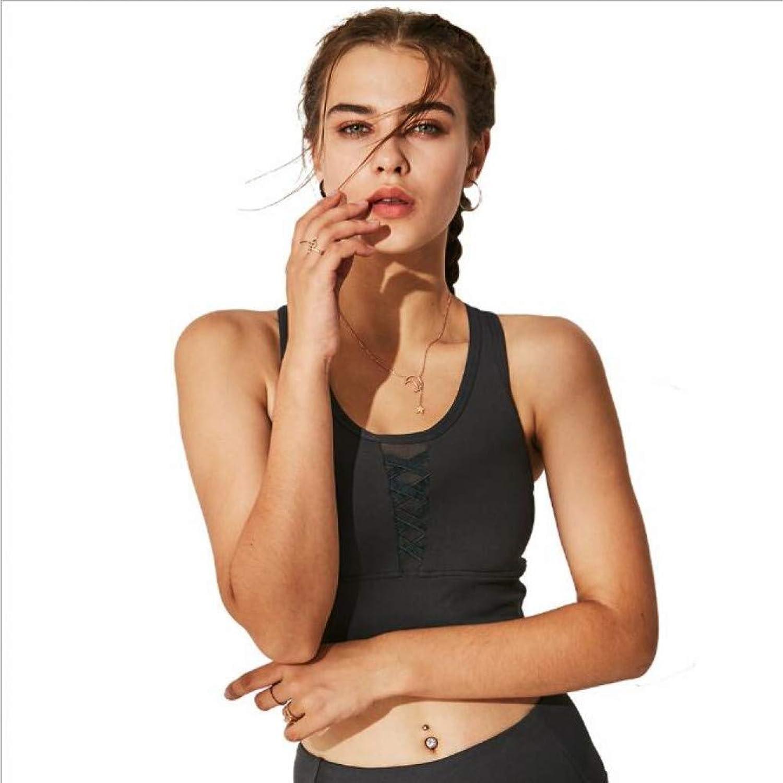 AIYUNDONG Frauen Yoga BH Weste Sport BH Stofest Hochfeste Weibliche Gathering Weste Quick Dry Sport Unterwsche Feste Schulter