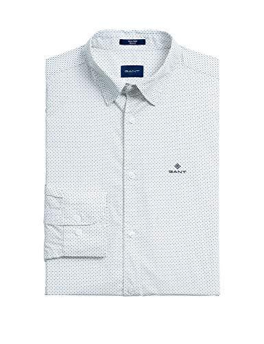GANT Regular Fit Hemd Langarm geknöpft Punkte weiß Größe XL