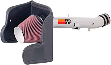 K&N Cold Air Intake Kit with Washable Air Filter:  2007-2011 Toyota (Tundra, Sequoia) 5.7L V8, Polished Metal Finish with Red Oiled Filter, 77-9031-1KP
