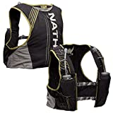 Nathan Men's Hydration Pack/Running Vest - VaporKrar 4L 2.0-4L Capacity with Twin 20 oz Soft flasks, Hydration Backpack - Running, Marathon, Hiking, Outdoors, Cycling and More (Black, M)