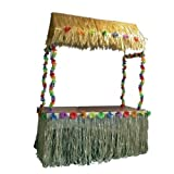 Gifts 4 All Occasions Limited- Falda de Mesa de Nailon Tiki (108 x 29 Pulgadas) – Decoración Tropical Hawaiana para Fiestas, Multicolor (Shatchi 5050439330365)
