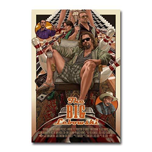 shuimanjinshan Stampa su Tela Il Grande Poster del Film Lebowski per l'arredamento della Camera 40x50cm Nessuna Cornice P-1929