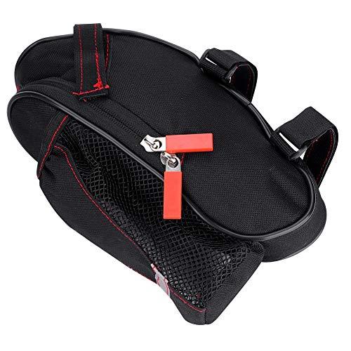 Bolsa Sillin Bici A prueba de agua de bicicletas Bolsas de una silla, 25cm * 8.5cm * 7cm Negro reflexivo ciclo del asiento de la cola bolsa, botella de agua de la bolsa for Tija de sillín de la bici b