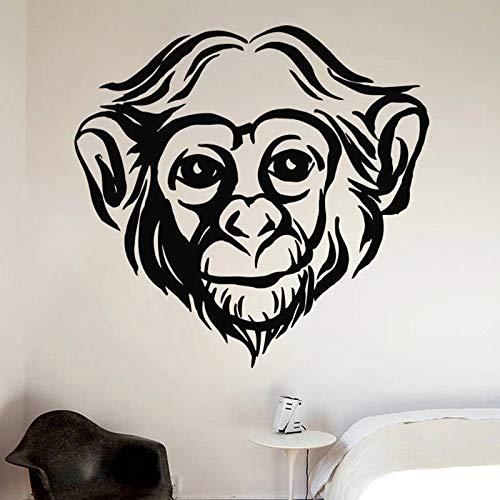 Decoraciones hechas a mano de la etiqueta engomada de la pared del dormitorio del mono Decoraciones caseras