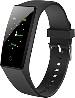 QKa Rastreador de Ejercicios con Interfaz de Pantalla de Cambio, Pulsera Inteligente con pulsómetro de Ritmo cardíaco IP67 para Android iOS