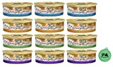 Purina Fancy Feast Gravy Lovers Wet Canned Cat Food Variety Pack - 4 Flavor Bundle, 3 Oz Cans - Pack of 12 Plus Can Cover (13 Items Total)
