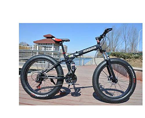 Mdsfe Bicicleta de montaña 7/21/24/27/30 Bicicletas de Velocidad Frenos de Doble Disco Bicicletas de Carretera de Velocidad Variable Carreras Bicicleta Bicicleta Plegable - D, 24 Pulgadas, 21