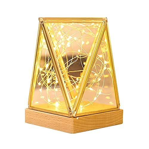 XLGX Lights String Led Light Copper Wire String Stick-On Wardrobe Closet Cabinet Kitchen Stairs LED Bedside Lamp Ramadan Festival Light Highlights Battery Powered Decorative Lights (B)