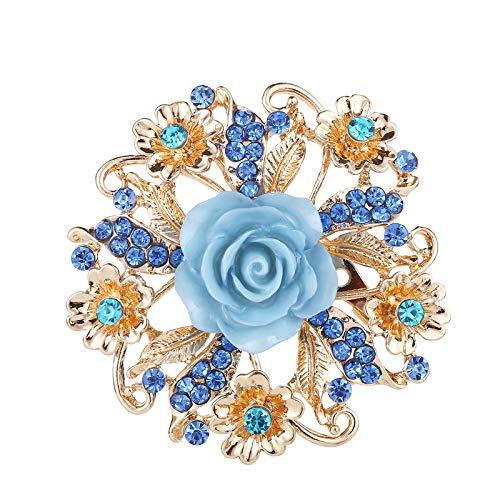 HOHHJFGG Broches De Rosas De Alta Gama con Diamantes, Ramilletes De Novia,...