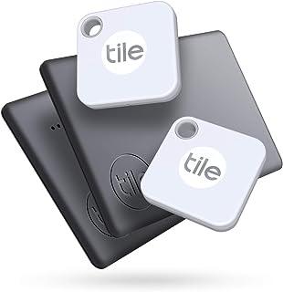 Tile Mate + Slim (2020) 4-Pack (2 Mates, 2 Slims) - Bluetooth Tracker, Item Locator & Finder for Keys, Bags, Wallets, Tabl...