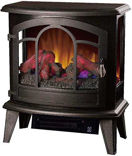 Calentador De Chimenea Eléctrico con Efecto De Llama, Chimenea con Estufa De Leña, Efecto De Llama con Mando A Distancia, Calefacción De 1400 W, Calefacción Interior