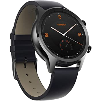 TicWatch C2, Wear OS Smartwatch for Men with Build-in GPS, Waterproof, NFC Payment, for iOS and Android (Black)