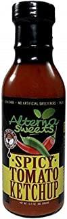 AlternaSweets Spicy Ketchup - 13.5 oz - Stevia Sweetened - Classic Tomato Flavor - Low Carb - KETO/Paleo/Atkins/ Diabetic ...
