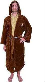 Jedi Master Fleece Hooded Bathrobe Robe Brown