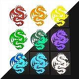 Reflective Tribal Dragon Decal, Round Dragon Bike Reflector Sticker, Tattoo Dragon Motorcycle Decal / 3.75'h x 3'w - #303R
