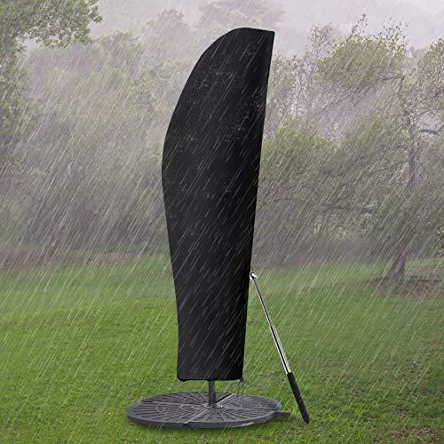 GEMITTO Copertura Protettiva per ombrellone (Diametro 2-4 m), Copertura per ombrellone da Giardino Impermeabile, Copertura per ombrellone con Cerniera Impermeabile