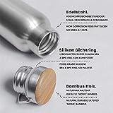Pure Design – 1000 ml Edelstahl Trinkflasche in Geschenk Verpackung - 4
