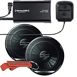 in budget affordable SiriusXM Music Rubber Kit with SXV300 v1 Connect Car Tuner Kit and Premium Pioneer 6.5 inch.
