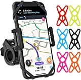 Bike & Motorcycle Phone Mount by TruActive, Bike Phone Mount Holder, 6 Colors Included, Universal Bike Phone Holder, Cell Phone Holder for Bike, Golf, ATV - Any Phone or Handlebar, Tool Free