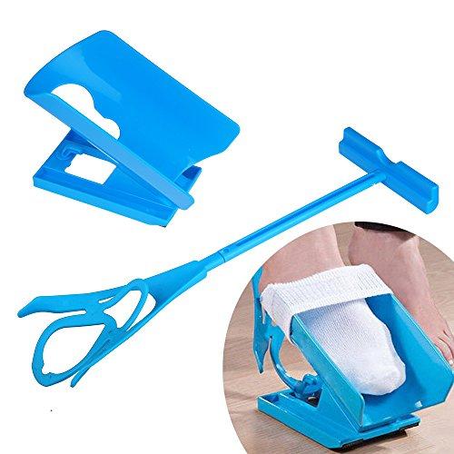 Calzador auxiliar para poner calcetines de Sinbide®, para ancianos, para embarazadas, para personas mayores, personas con sobrepeso