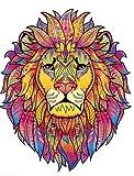 SAKHRI Paris® Puzzle de Madera para Adultos Animales de París | Leo el león de Vincennes | Rompecabezas Juegos Familiares Idea Original de Regalo para niños Pasatiempos educativos