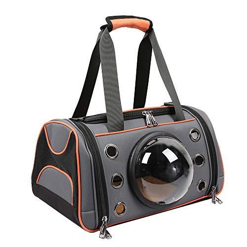 DDOOGG transporttas voor honden en katten in de vorm van een handtas, ademend, voor pups, schoudertas buiten, zacht, voor grote honden en katten, S, Bruin