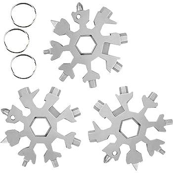 19-in-1 Tragbares Edelstahl Multifunktionswerkze CAMTOA Schneeflocke Multi-Tool