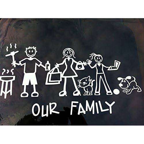 "La familia Team HUGE 23/"" car window Sticker"
