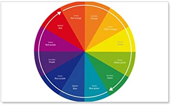 CafePress - The Color Wheel - 35x21 Wall Decal, Vinyl Wall Peel, Reusable Wall Cling
