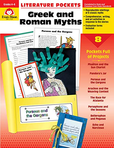 Literature Pockets, Greek & Roman Myths, Grades 4-6