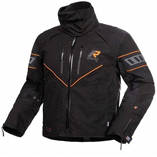 Rukka Nivala - Giacca da moto, colore: Nero/Arancione