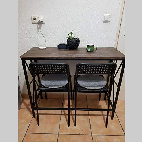Aingoo Escritorio industrial Sofá Mesa de entrada con marco de metal en forma de X para estudiantes independientes 100 * 38 * 80.5 cm Marrón