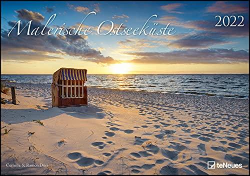 Malerische Ostseeküste 2022 - Wand-Kalender - 42x29,7 - Meer