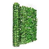 blumfeldt Fency Bright Leaf - Clôture Pare-Vue, Clôture Brise-Vue, Paravent, Montage Simple et Rapide, Grillage métallique enrobé de Plastique, Attaches Vertes incluses, Hêtre Vert Clair