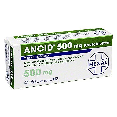 ANCID 500 mg, 50 St. Kautabletten