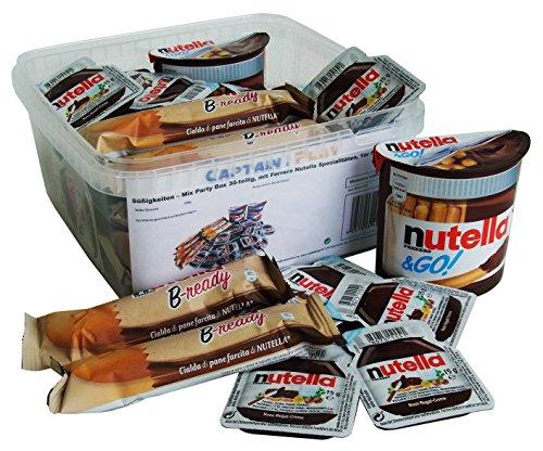 Süßigkeiten – Mix Party Box 30-teilig, mit Ferrero Nutella Spezialitäten, 1er Pack (1 x 556g)