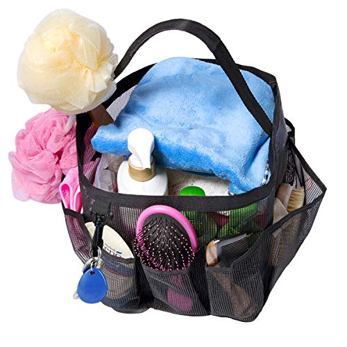Attmu Mesh Shower Caddy Basket for College Dorm Room Essentials, Hanging Portable Tote Bag Toiletry for Bathroom Accessories