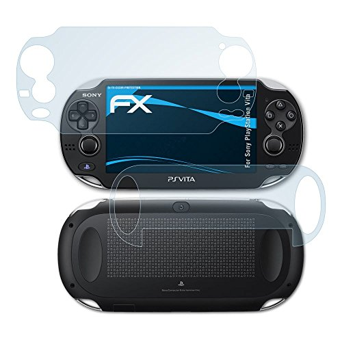 atFoliX Lámina Protectora de Pantalla compatible con Sony PlayStation Vita Película Protectora, ultra transparente FX Lámina Protectora (Set de 3)