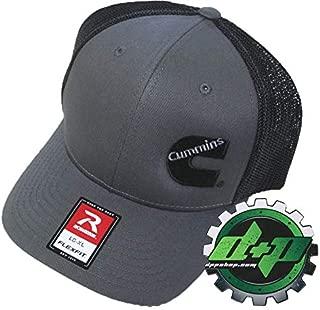 Diesel Power Plus Dodge Cummins Trucker hat Ball Richardson Charcoal Gray Black mesh Flex fit LG/XL
