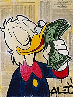Artcgc Alec Monopoly Smell Money Wall Art Home Wall Decorations for Bedroom Living Room Oil Paintings Canvas Prints 3 Sizes-220 (Unframed,24x32inch)