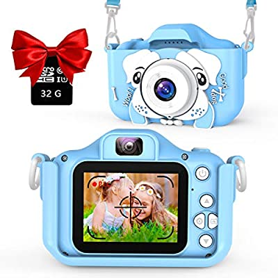 AOGELI Kids Camera for Girls Boys, Kids Selfie Camera, 20.0MP HD Digital Video Camera for Children, Dual Camera Camcorder, 2.0 Inch IPS Screen, 32GB Memory Card, Great Birthday Gift for 3-12 Y from CA24